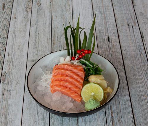 Sushimi Food Salmon Moriawase.Foto: Veronika Stuksrud